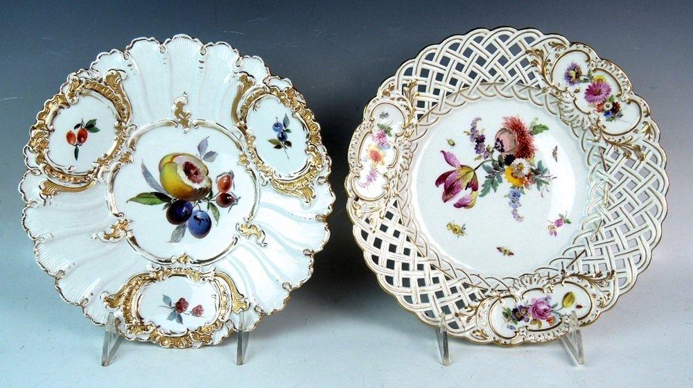 Pair Meissen Plates
