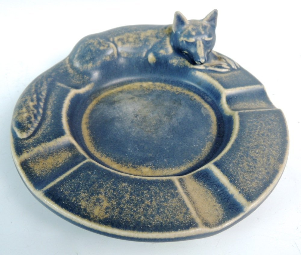 Rookwood Figural Ashtray of a Fox