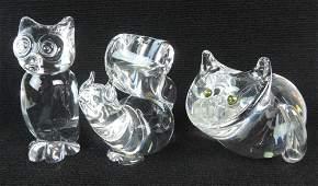 3 Steuben Crystal Animal Figures