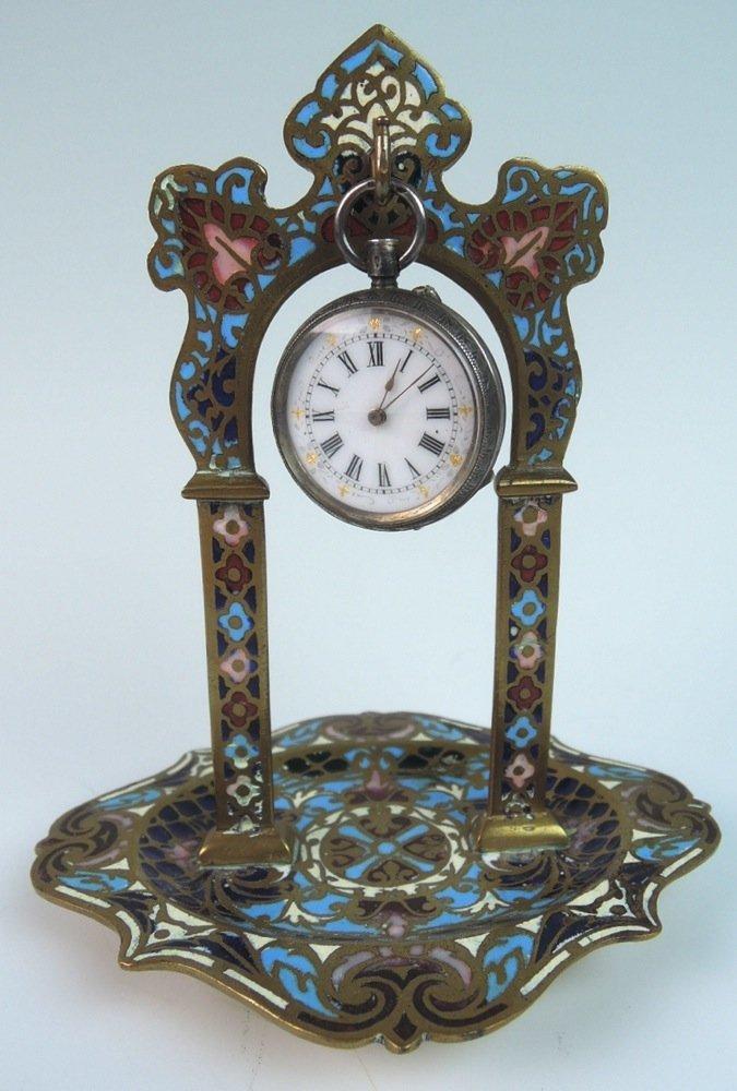 French Enamel Watch Holder