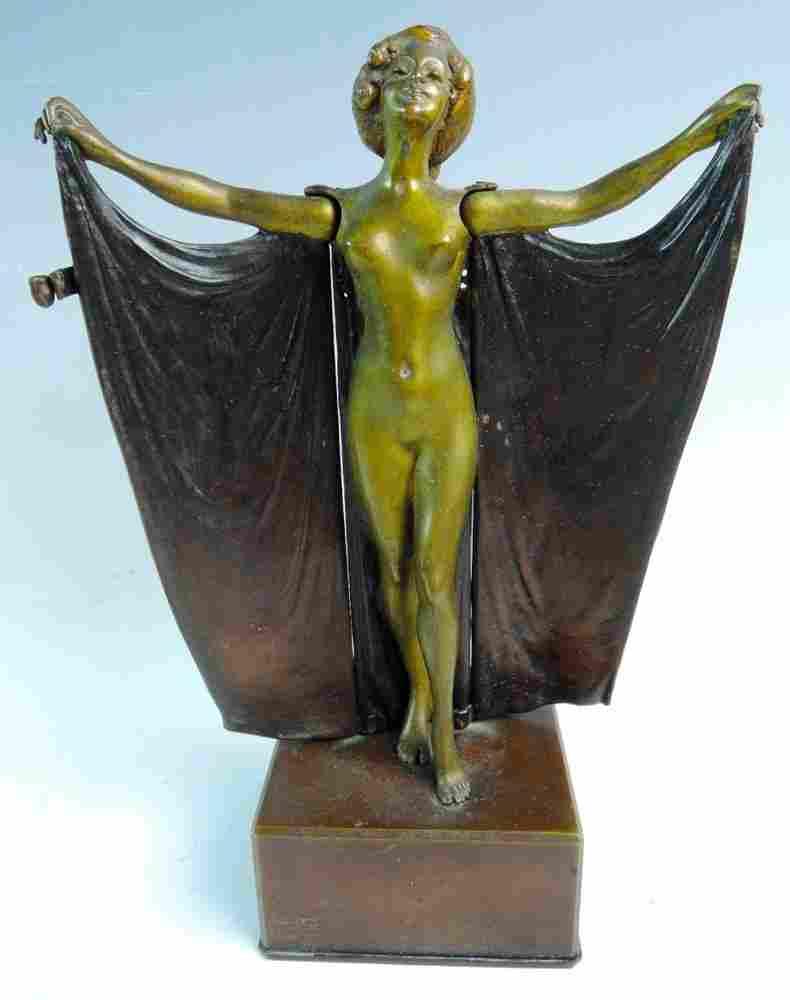 Carl Kauba Mechanical Erotic Nude Bronze Figurine