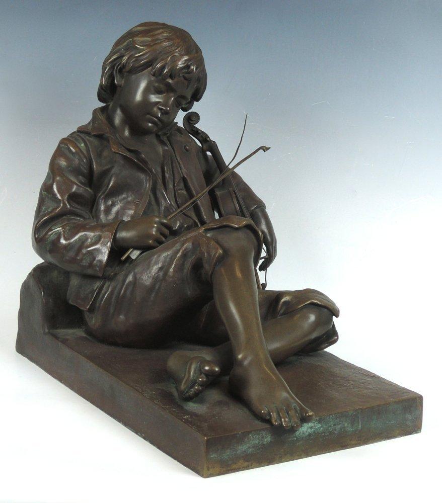 Bronze A Sleeping Fiddler Leon Tharel Tiffany & Co