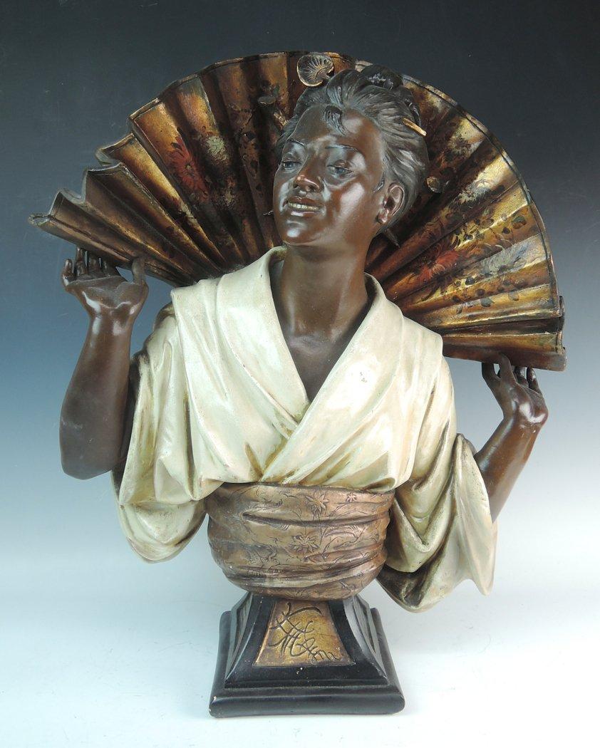 Large Signed Koenig Terracotta Orientalist Bust
