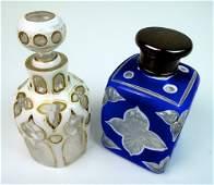 Pair 19thC Bohemian Scent Bottles