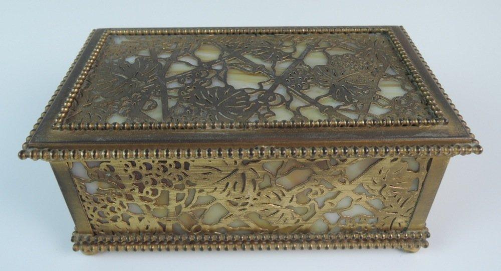 Tiffany Studios Bronze Grapevine Jewelry Box