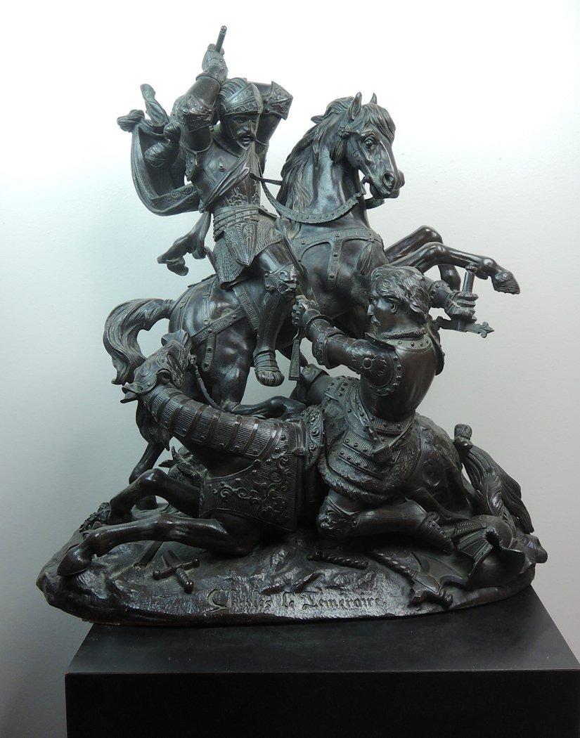 """Eugene de LaBroue Bronze """"Charles le Temeraire"""""""