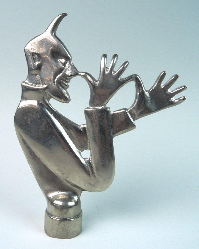 Chrome Devil Hood Ornament