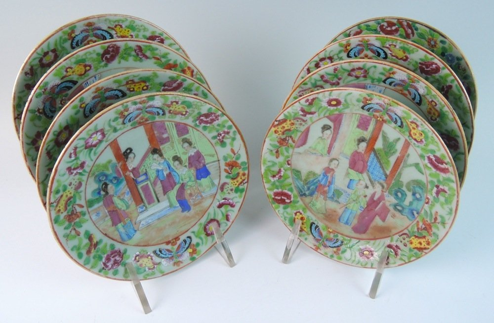Set of 8 Chinese Hand Painted Plates