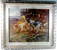 T.D. Beaumont O/B Painting Group of Setters