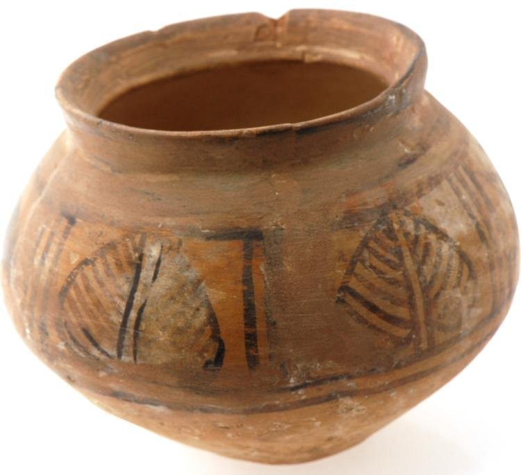 1-Ancient Indian Indus Valley Ceramic Bowl w. Painted