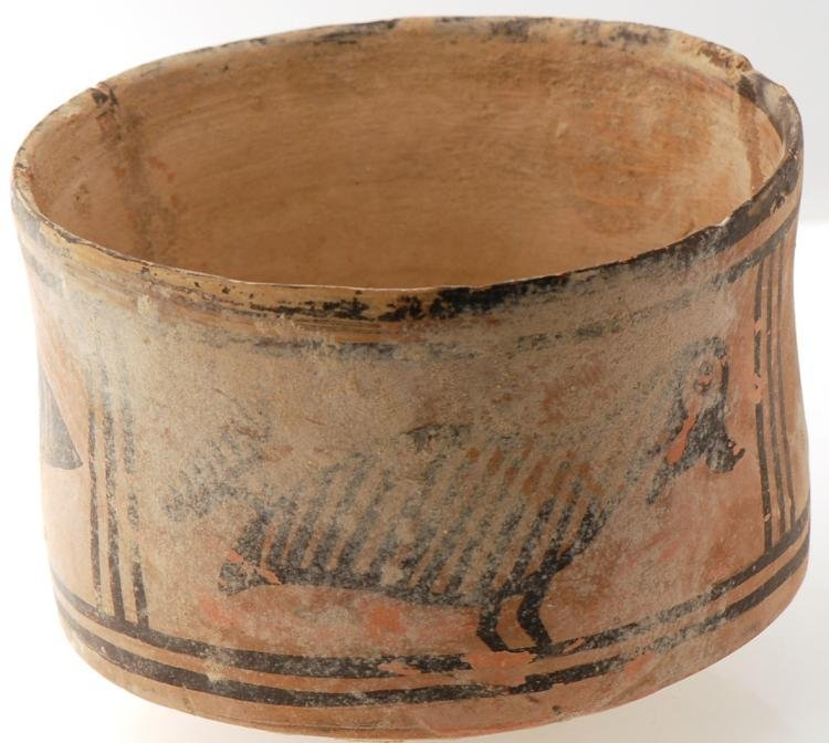 2-Ancient Indian Indus Valley Ceramic Bowl w. Painted