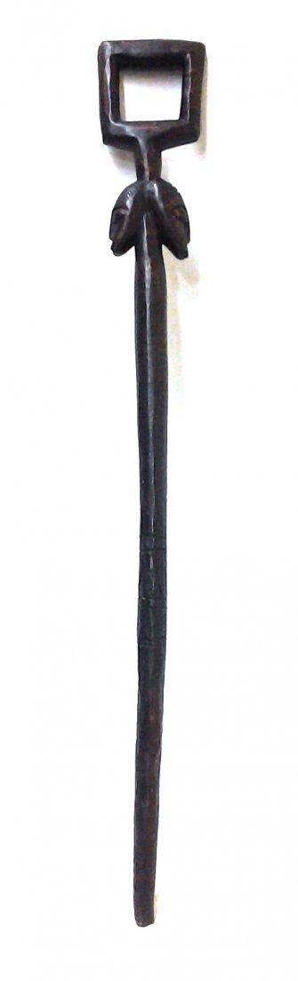 African Antique Tribal Walking Stick Chief Warrior