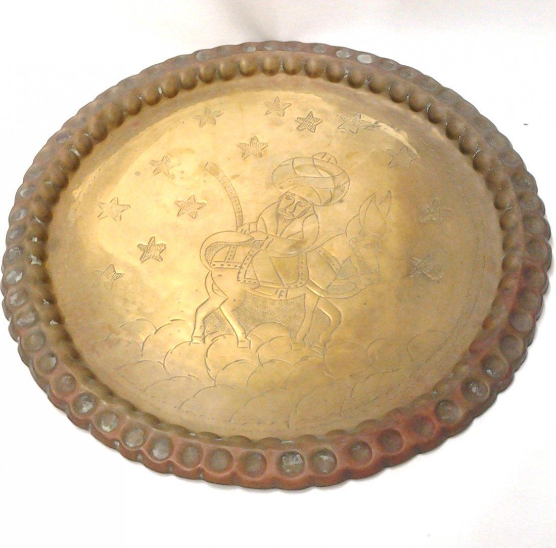 Ancient 2.0 lbs Circa 1750 Islamic Handmade Brass Tea