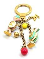 Louis Vuitton Gold Candy Charm Key Chain w, Receipt,