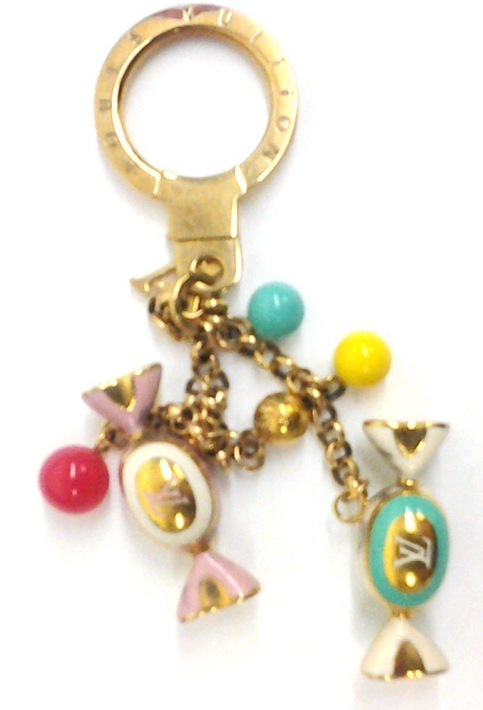 Louis Vuitton Gold Candy Charm Key Chain w, Receipt, - 3