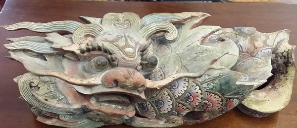 Antique Circa 1850 Chinese Poly-Chromed Wood Carvings :