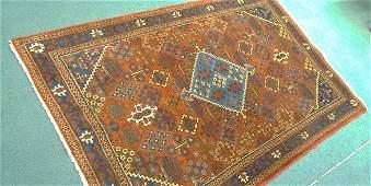 Vintage Handmade Persian Kazak Caucasian Rug with