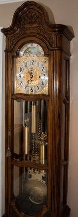 Vintage Grandfather Clock: HERSCHEDE MODEL 117, MARQUIS