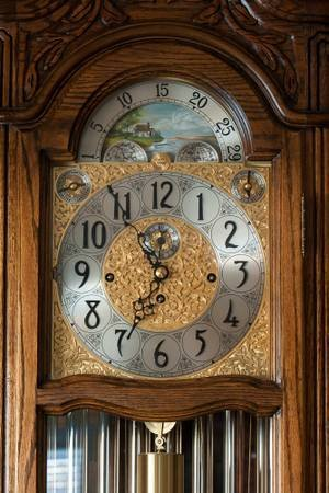 Vintage Grandfather Clock: HERSCHEDE MODEL 117, MARQUIS - 5