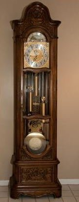 Vintage Grandfather Clock: HERSCHEDE MODEL 117, MARQUIS - 8