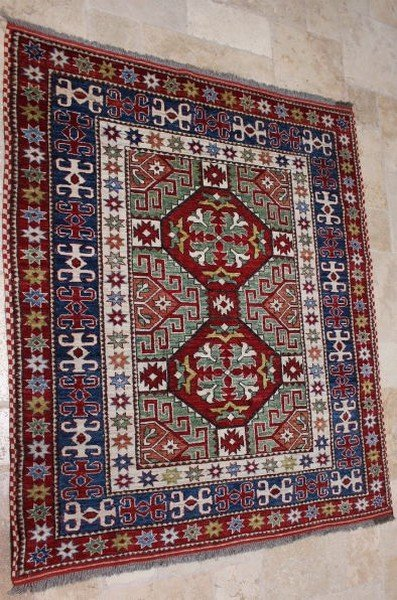 Antique Large Fine Wool Rug Imported from Afghanistan,