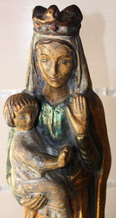 Ancient Gold Gilded Lady Madonna w. Child Made in Spain