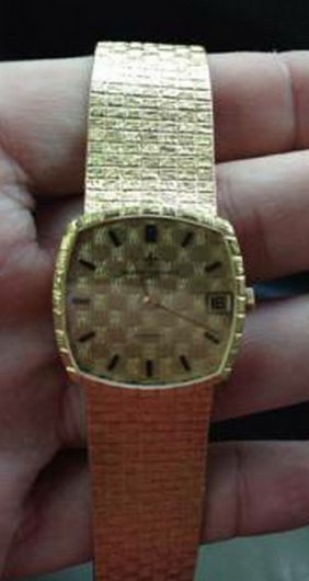 18k Gold Classic Vacheron Constantin Watch, 2.7 Oz,