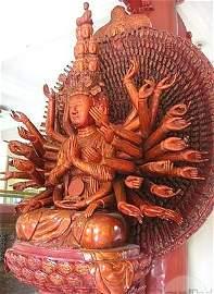 Ancient,1656 Gilded Buddha God Avalokitesvara, Kuan Yin