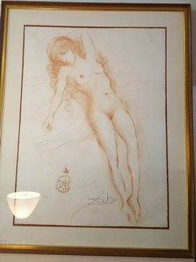 Salvador Dali Colored Lithograph Signed & Numbered W.