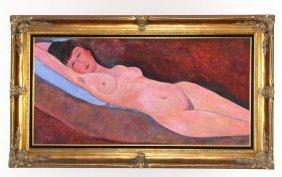Original C1968 American Oil On Canvas By California