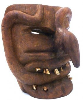 Antique African Chokwre Tribe Booger Wood Mask W.