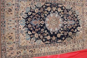 Antique Floral Persian Tabriz C1915 Fine Silk/silk Qum