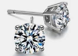 Diamond Solitaire Stud Earrings 14k Gold 0.77 Ctw.