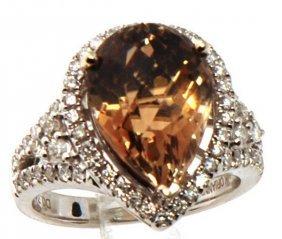 Certified Estate 14k Gold Ring Set W. Precious Topaz &