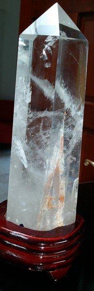 """Quartz Terminating Crystal Specimen W. Stand 10"""""""
