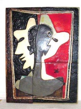 Salvador Dali Tile Bas Relief C1980 #32 Of 99
