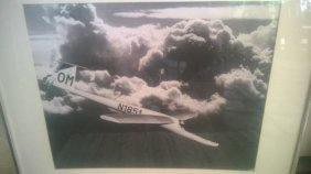"Vintage 3-airplane In Flight Photographs 26"" Inches"