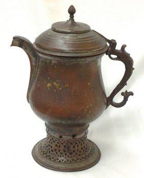 Ancient Indo-persian Circa 1700 Copper Incense Burner