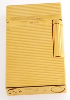 Vintage French S.t. Dupont L2 Gold-plated Cigarette