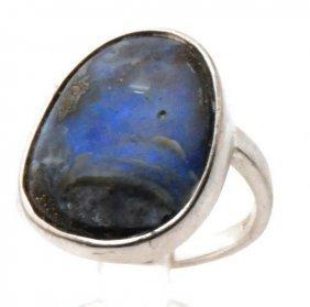 Certified Gla Australian Opal Boulder In Custom Silver