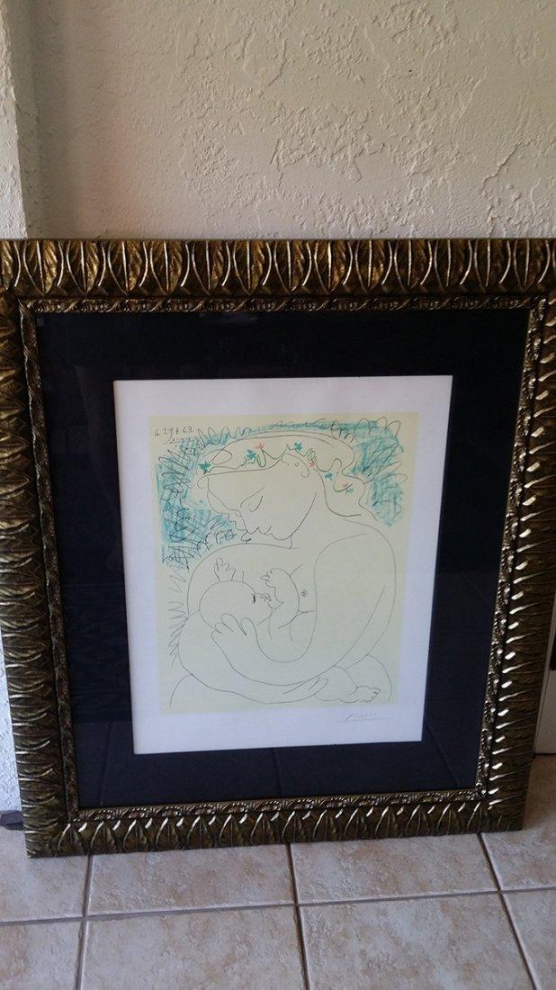 Pencil Signed Picasso Grande Maternite