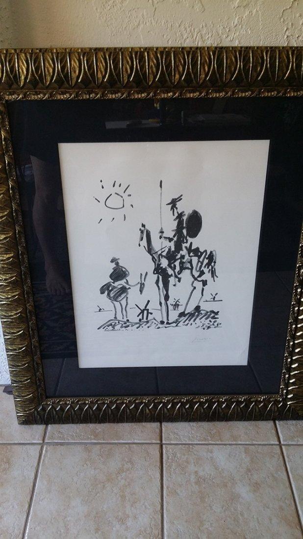 Pencil Signed Picasso Don Quixotte