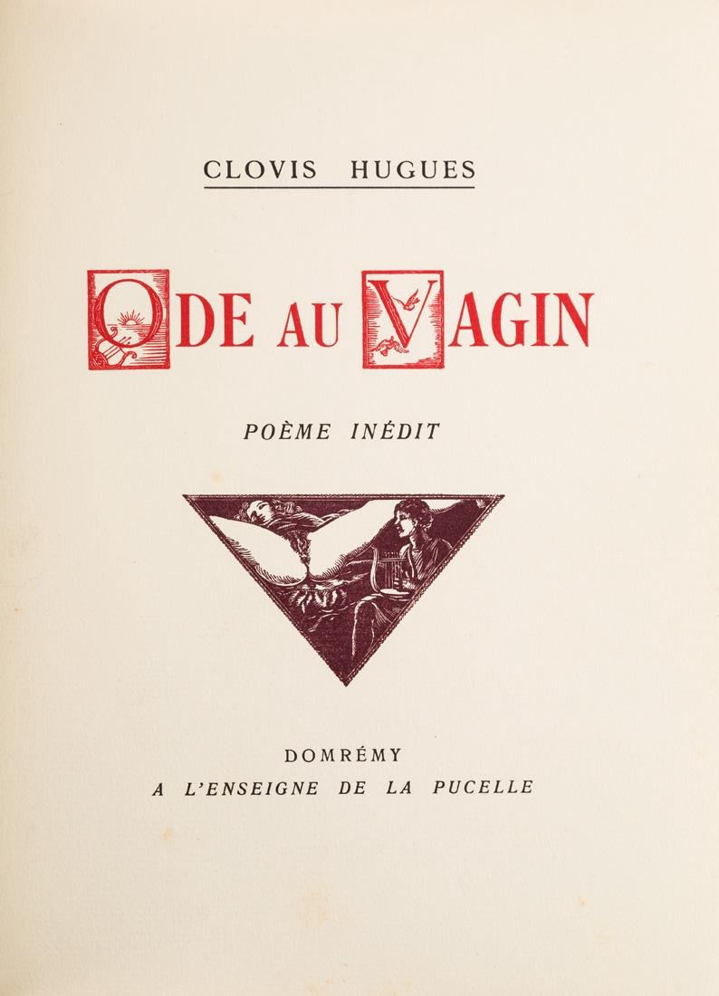 CLOVIS HUGUES, ODE AU VAGIN, CIRCA 1933 - 2