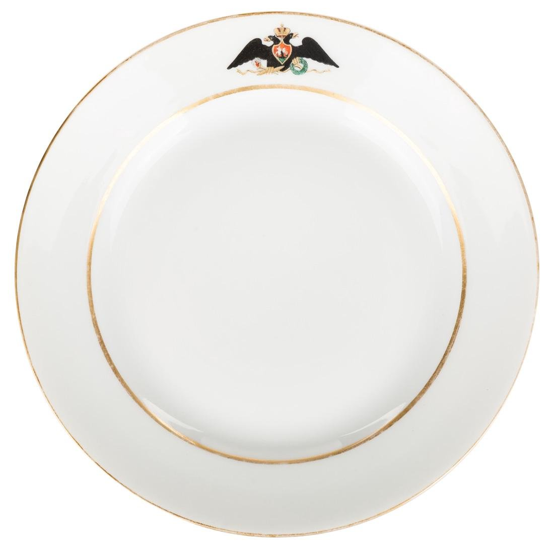 A PAIR OF RUSSIAN IMPERIAL PORCELAIN PLATES FROM THE - 2