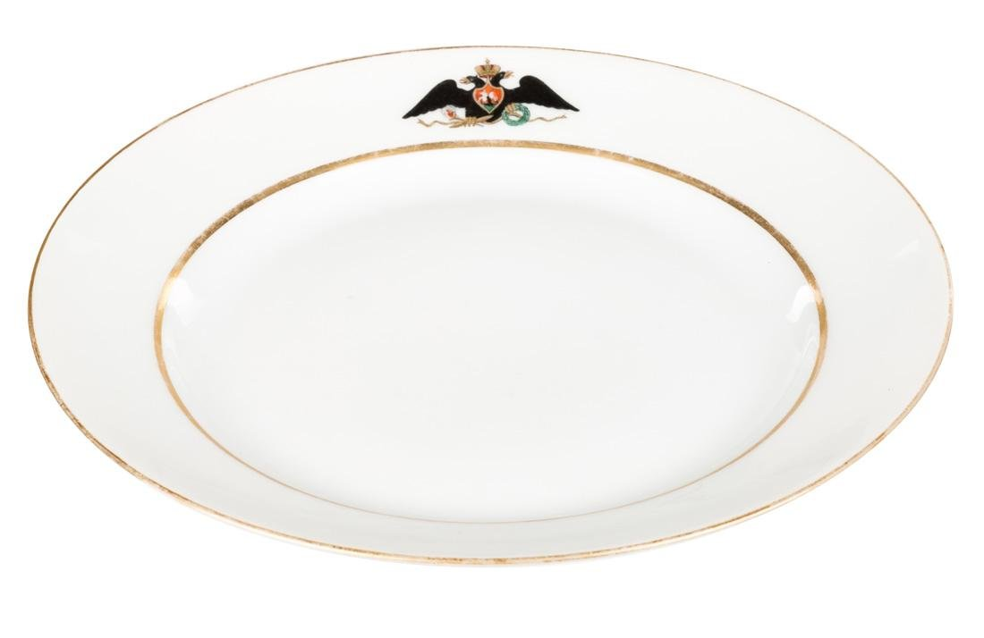 A PAIR OF RUSSIAN IMPERIAL PORCELAIN PLATES FROM THE - 3