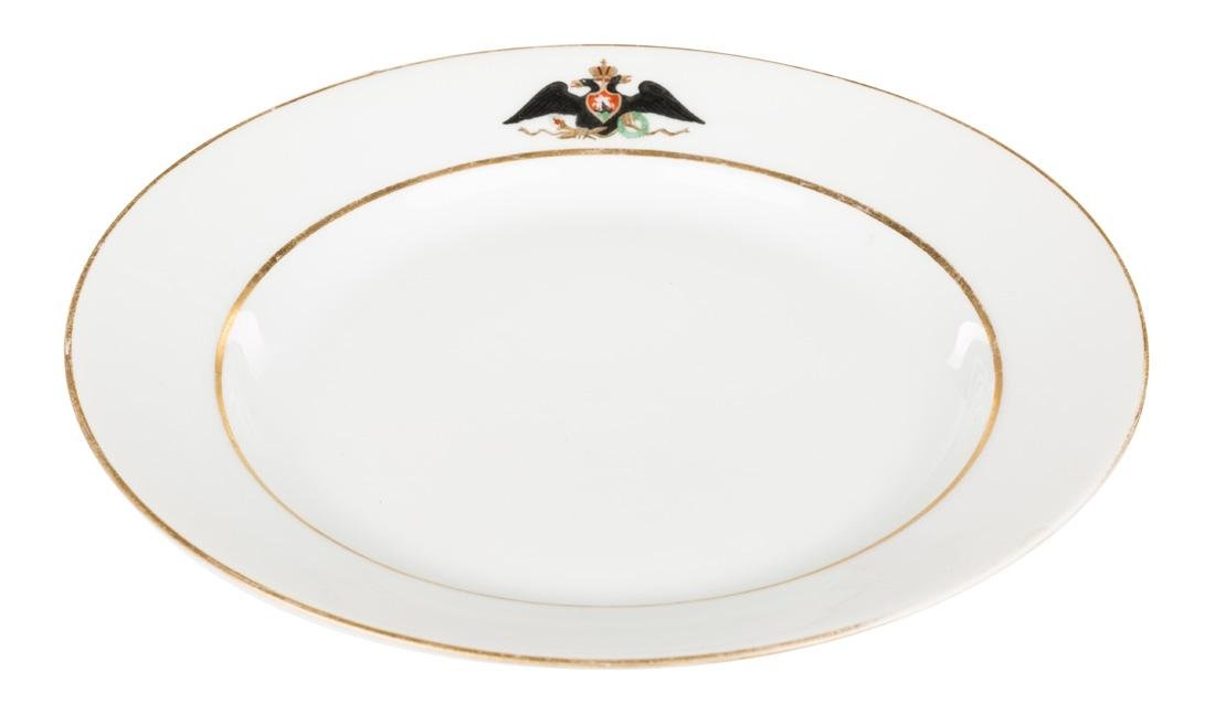 A PAIR OF RUSSIAN IMPERIAL PORCELAIN PLATES FROM THE - 5