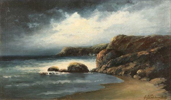 11: PODCHERNIKOFF California Russian Oil Painting Sea