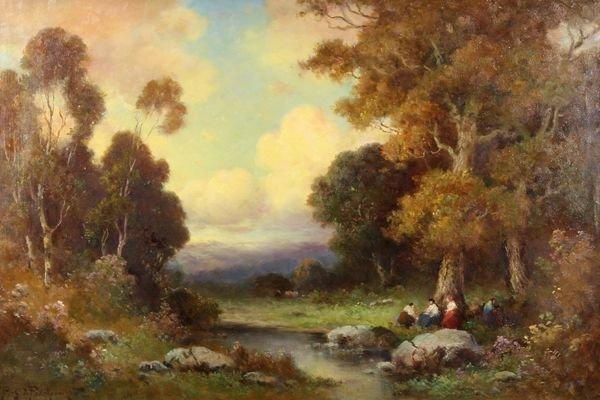 12: PODCHERNIKOFF California Russian Oil Painting Picni