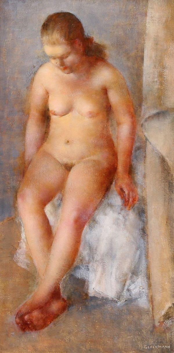 14: GLUCKMANN California Russian Oil Painting Nude