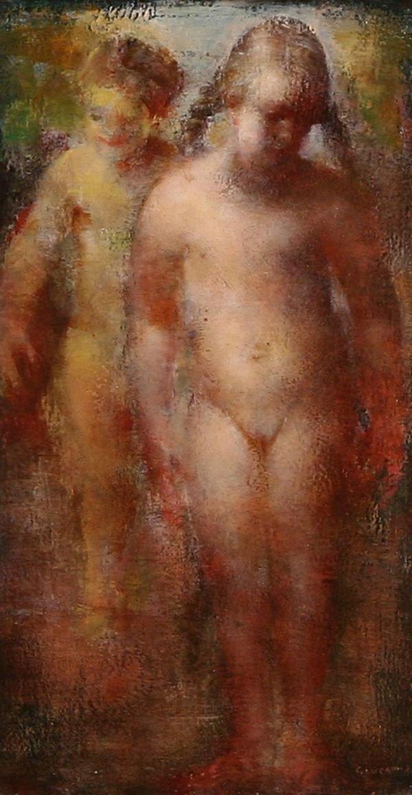 15: GLUCKMANN California Russian Oil Painting Nude